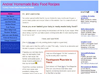 Make your own Homemade Baby food